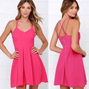 Lulu's | To The Rescue Fuchsia Dress